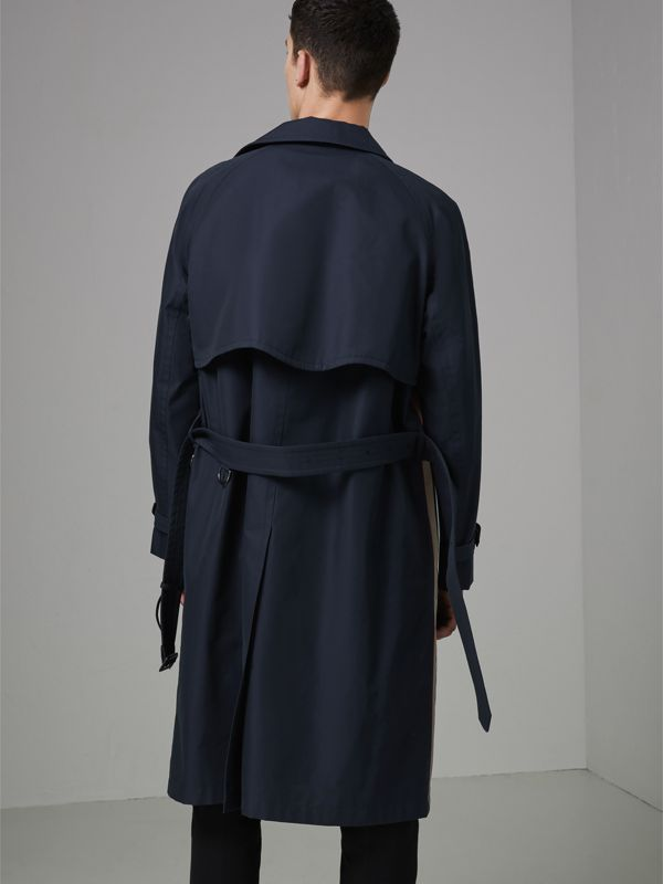 Icon Stripe Cotton Gabardine Trench Coat in Navy - Men | Burberry - cell image 2