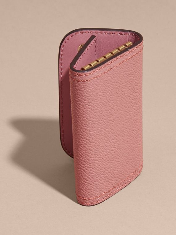 Grainy Leather Key Holder in Dusty Pink - Women | Burberry United States - cell image 3