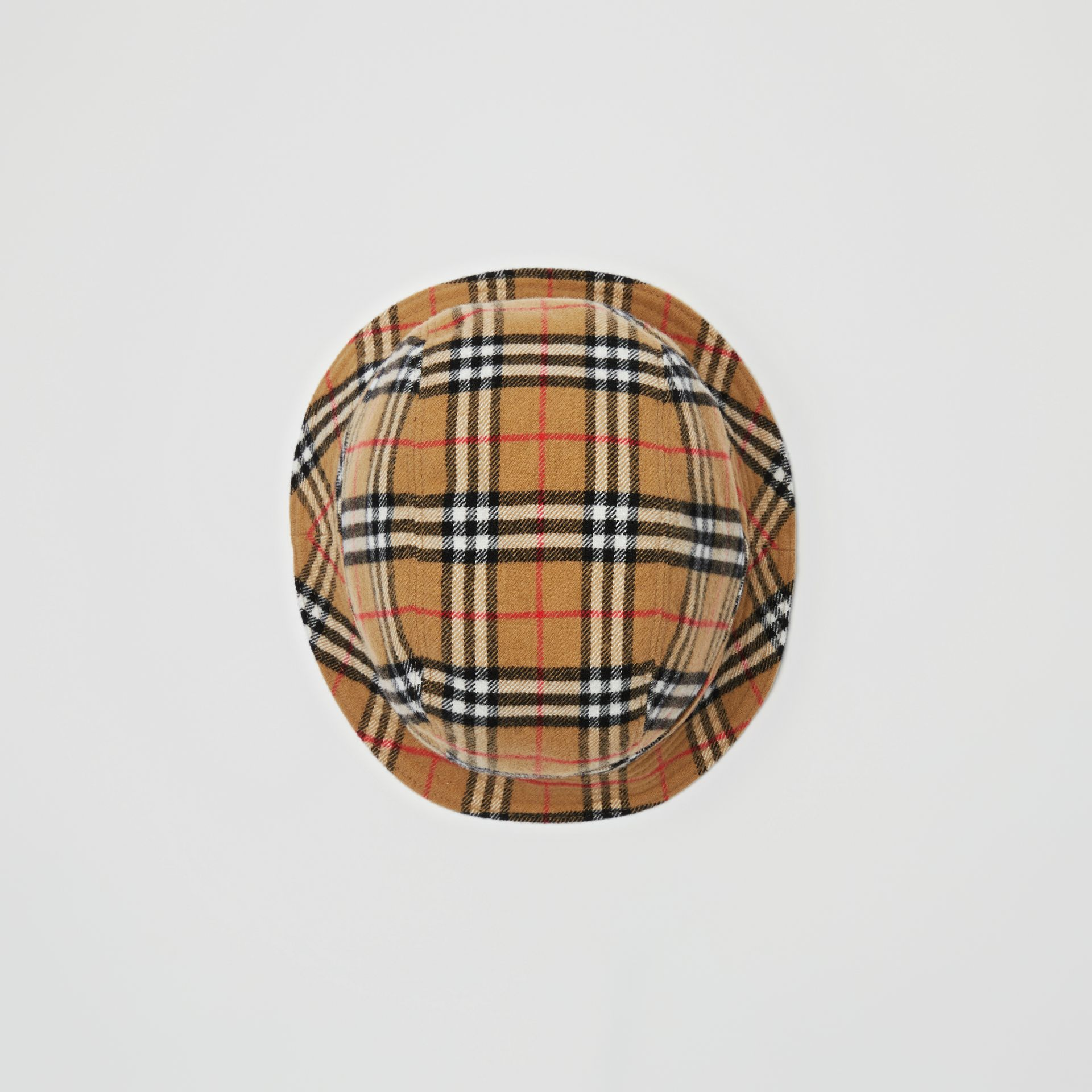 Gosha x Burberry Check Flannel Bucket Hat in Antique Yellow | Burberry - gallery image 5