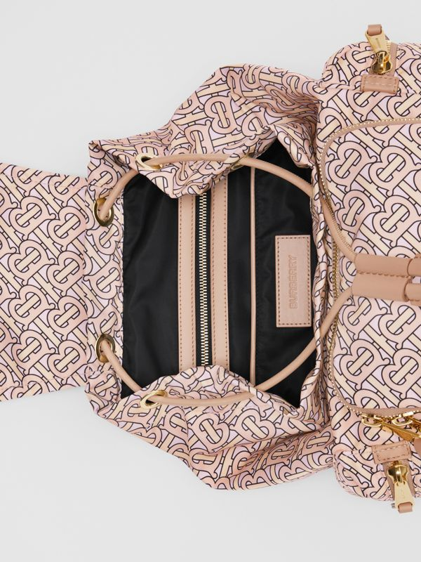 The Medium Rucksack in Monogram Print Nylon in Blush - Women | Burberry - cell image 3