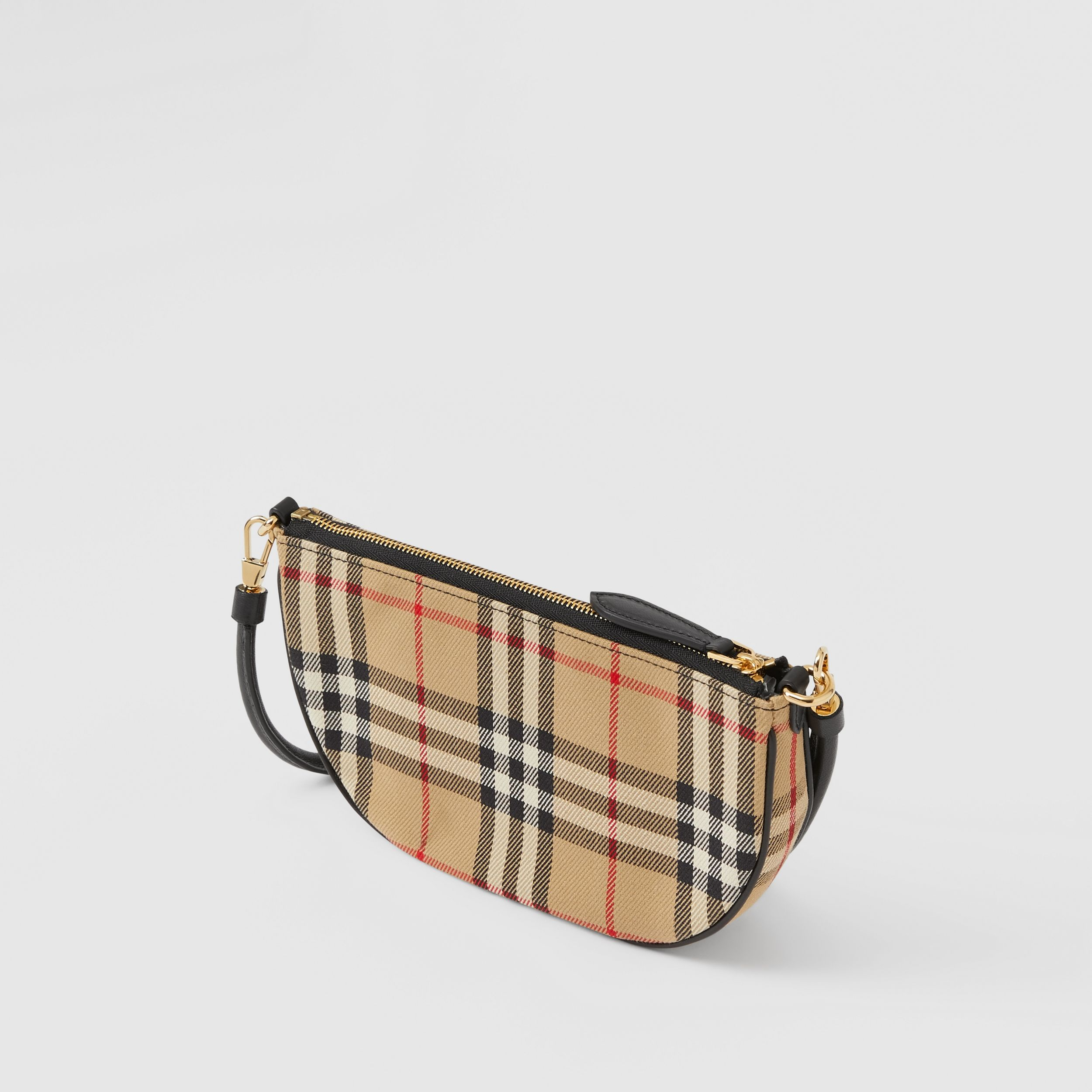 Vintage Check Cotton Olympia Pouch in Archive Beige - Women | Burberry Australia - 4