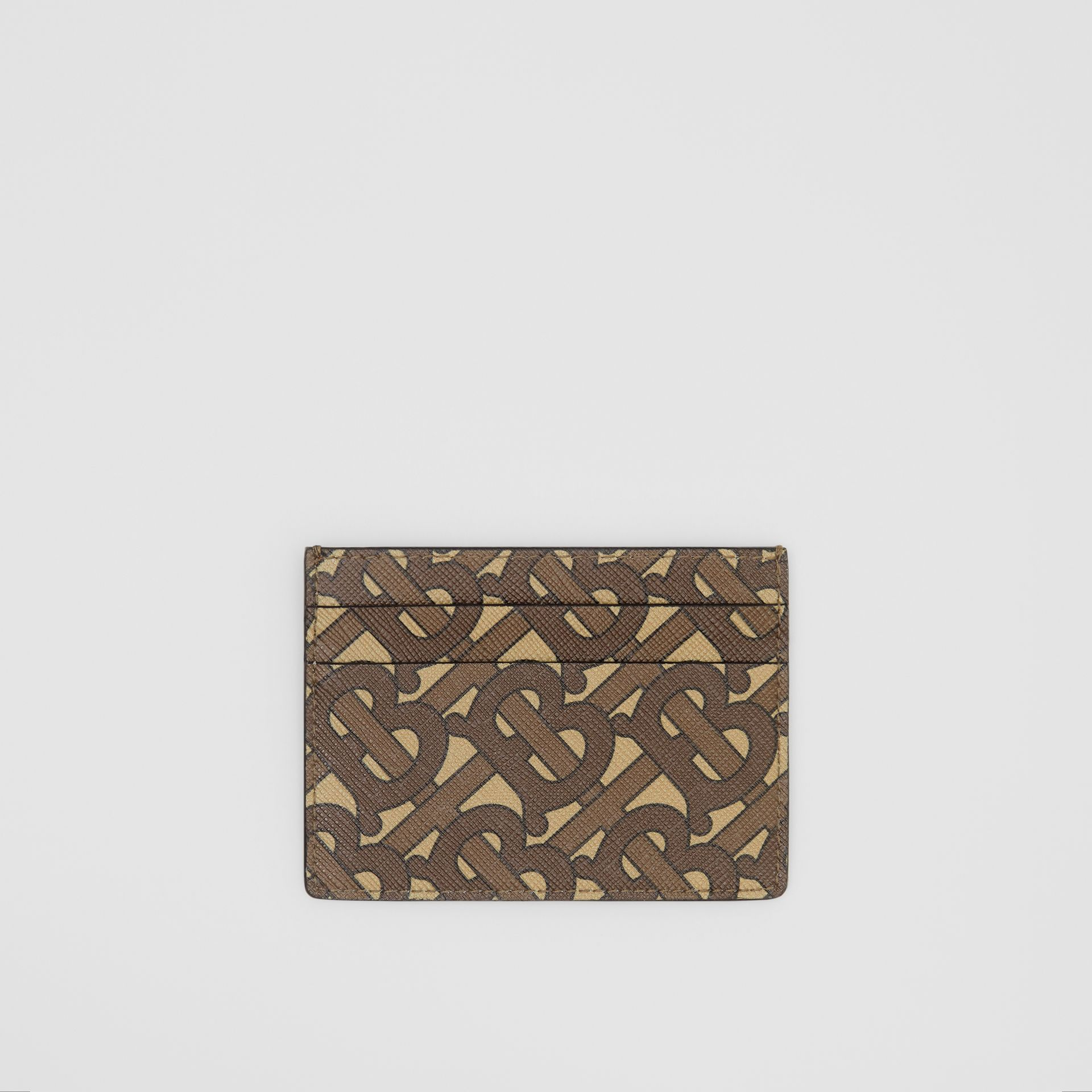 Monogram Print E-canvas Card Case in Bridle Brown | Burberry United Kingdom - gallery image 0