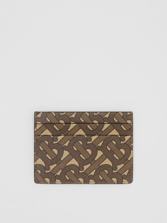 Футляр для карт из ткани e-canvas с монограммой (Темно-коричневый)