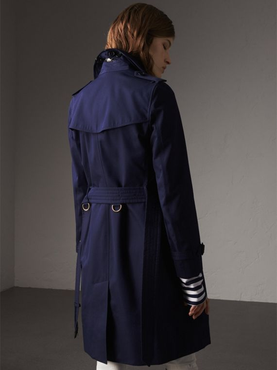 Cotton Gabardine Trench Coat in Blueberry - Women | Burberry - cell image 2
