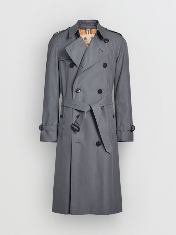 The Long Chelsea Heritage Trench Coat in Mid Grey - Men | Burberry Australia - cell image 3