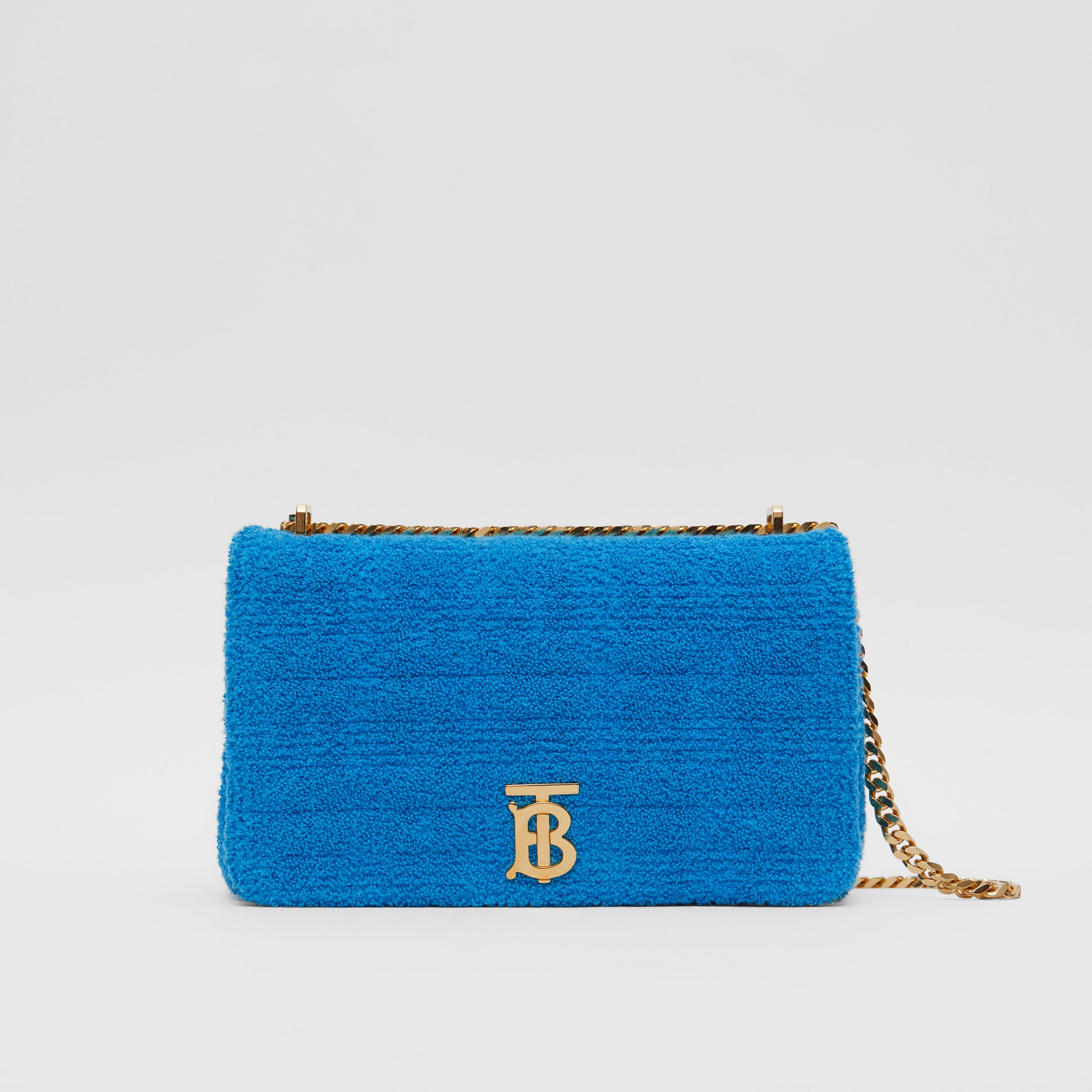 Medium Quilted Towelling Lola Bag in Brilliant Blue | Burberry United Kingdom - 1