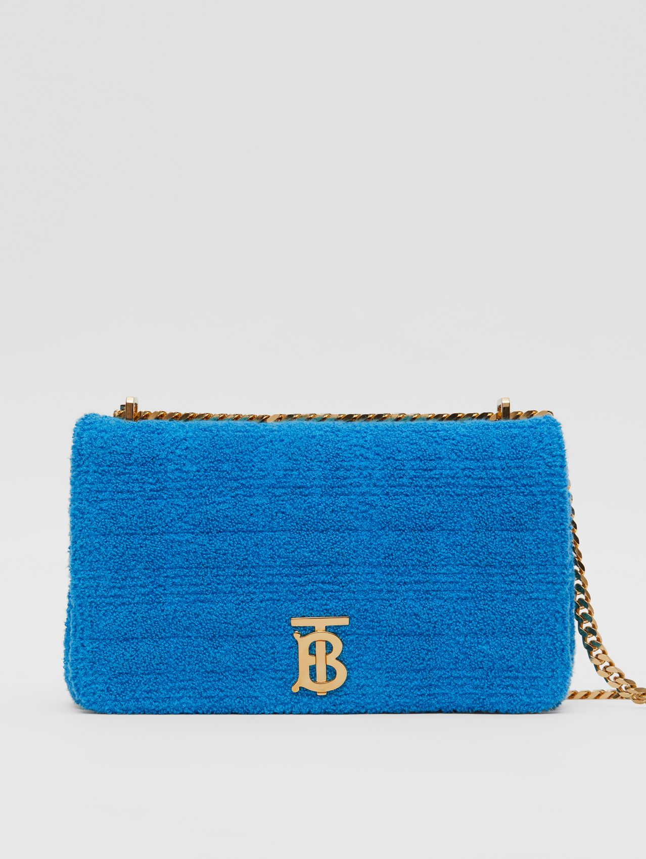 Medium Quilted Towelling Lola Bag in Brilliant Blue