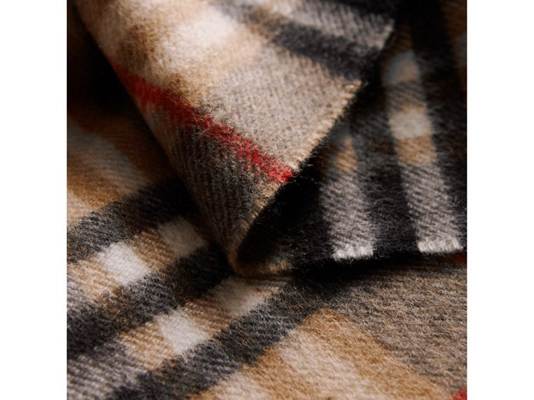 Check Cashmere Scarf in Camel | Burberry - cell image 4