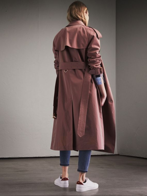 Tropical Gabardine Trench Coat in Antique Rose - Women | Burberry - cell image 2