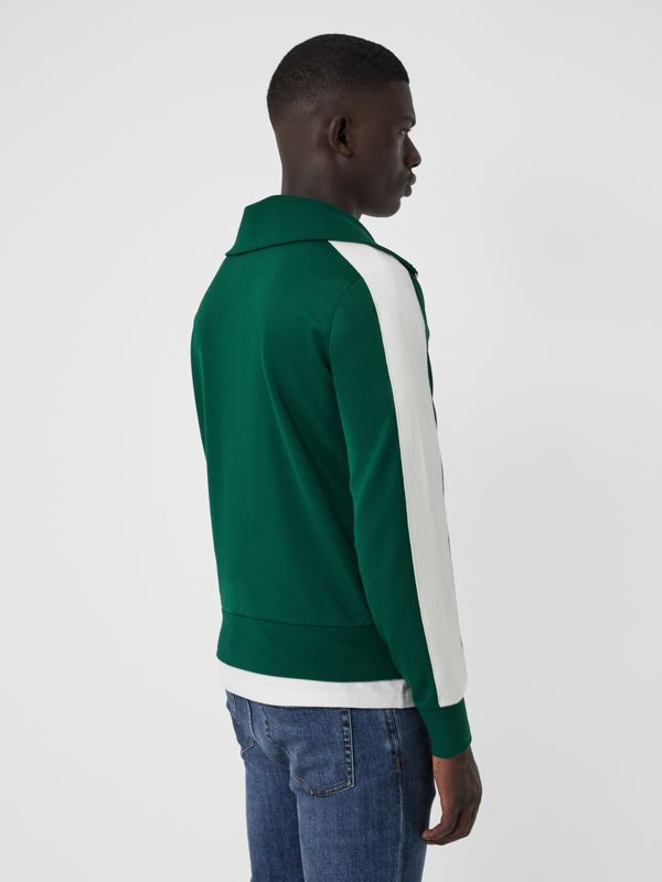 Stripe Detail Jersey Track Top in Opal Green - Men | Burberry - cell image 2