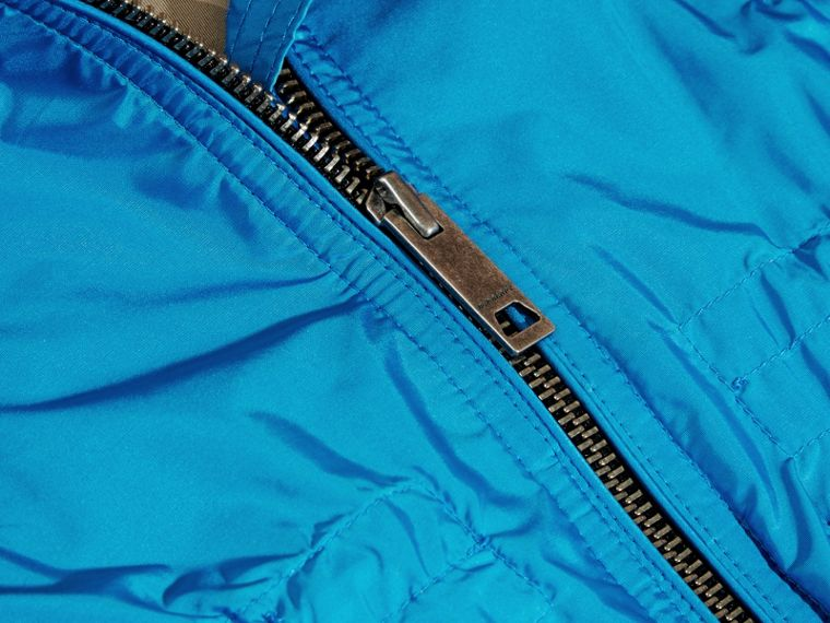 Hooded Packaway Technical Jacket Hydrangea Blue - cell image 1