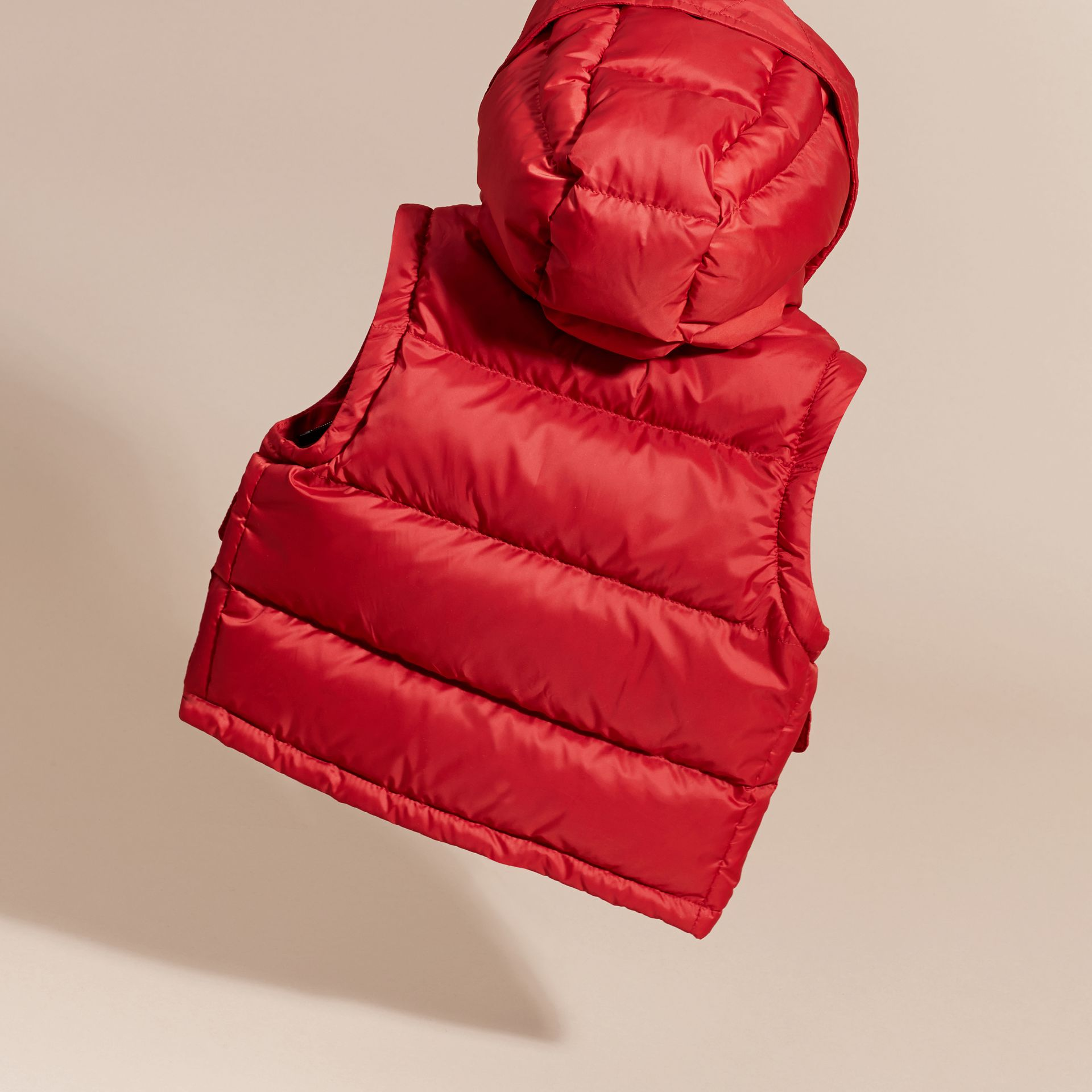 Military red Detachable Sleeve Puffer Jacket Military Red - gallery image 4