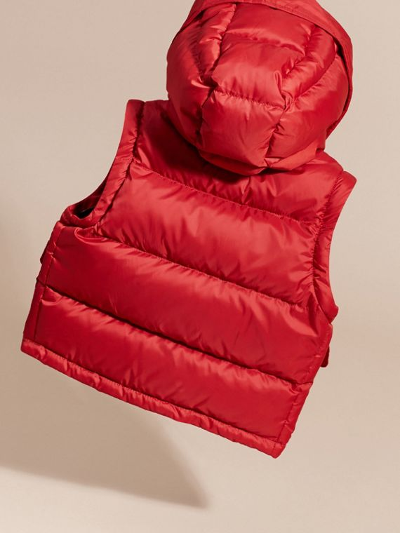 Military red Detachable Sleeve Puffer Jacket Military Red - cell image 3