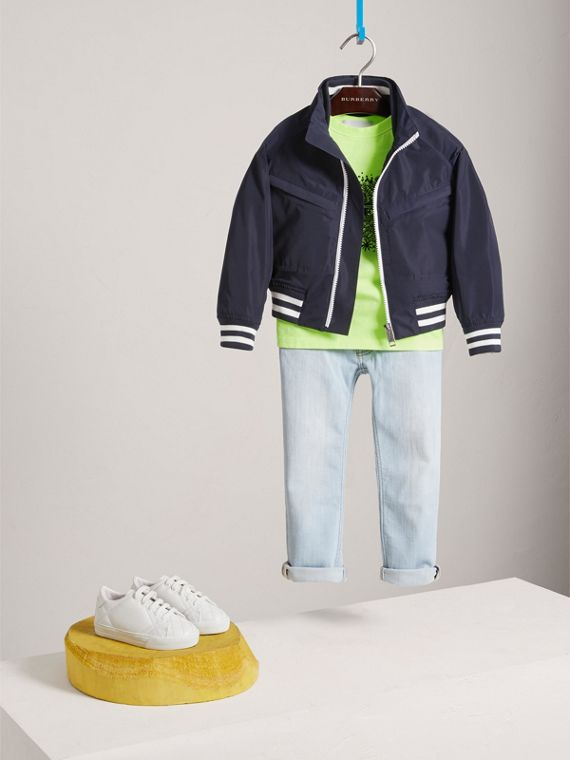 Lightweight Bomber Jacket in Navy - Boy | Burberry - cell image 2