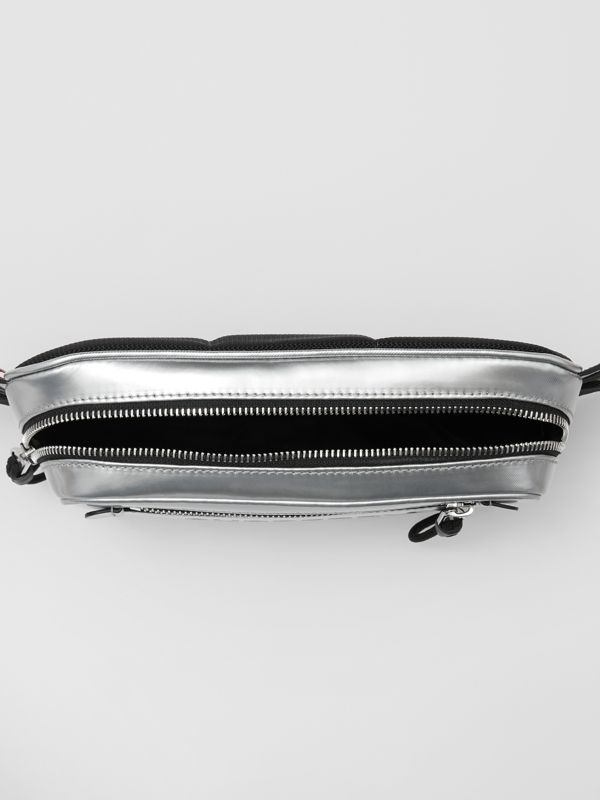 Metallic Coated Canvas Bum Bag in Silver - Men | Burberry - cell image 3