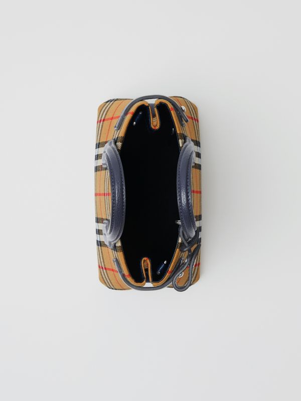 The Baby Banner in pelle con motivo Vintage check (Blu Reggenza) - Donna | Burberry - cell image 3