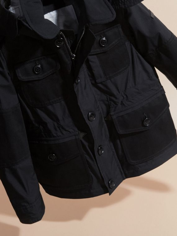 Black Technical Jacket with Detachable Hood - cell image 2