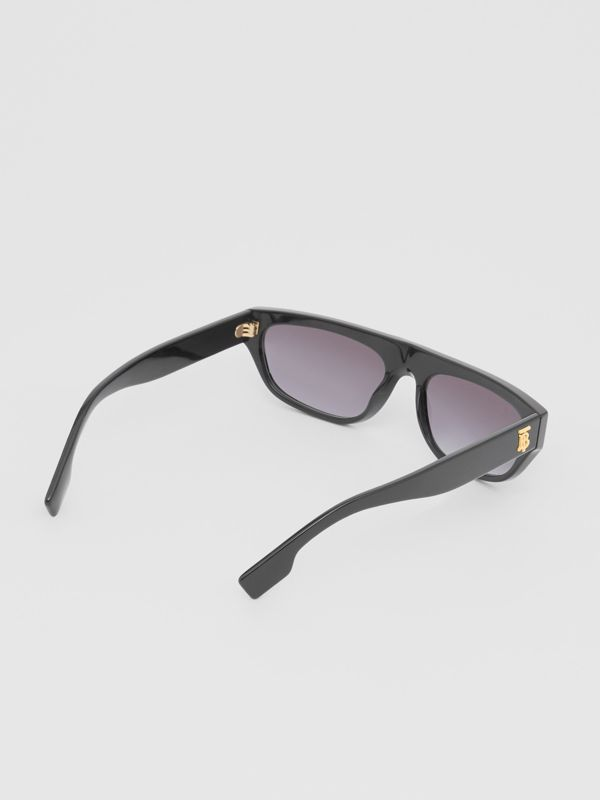 Monogram Motif Rectangular Frame Sunglasses in Black | Burberry Singapore - cell image 3