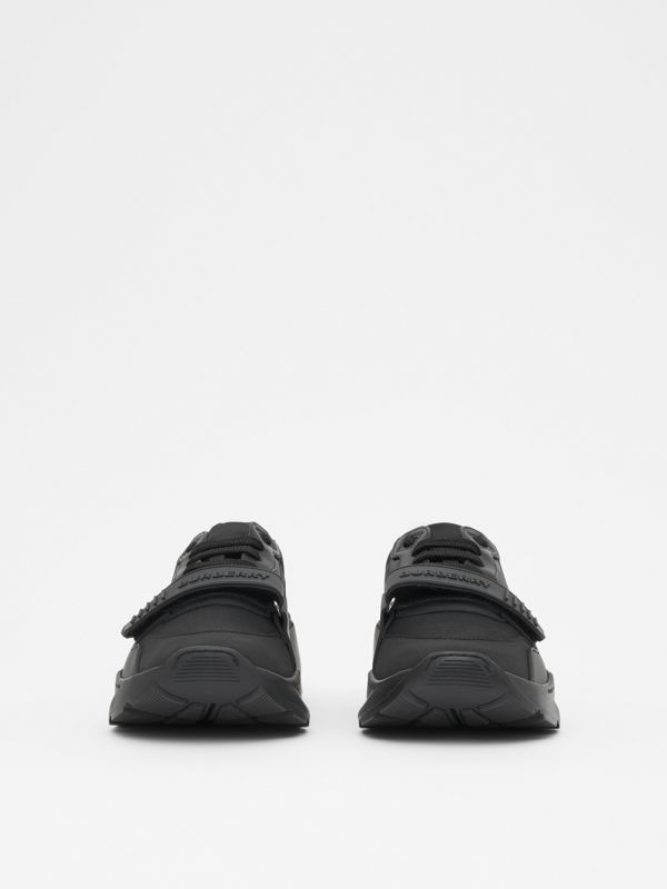 Kingdom Print Neoprene and Leather Sneakers in Black - Men | Burberry United States - cell image 2