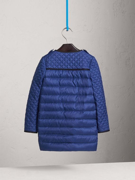 Quilted Down-filled Coat in Dark Cobalt - Girl | Burberry - cell image 3