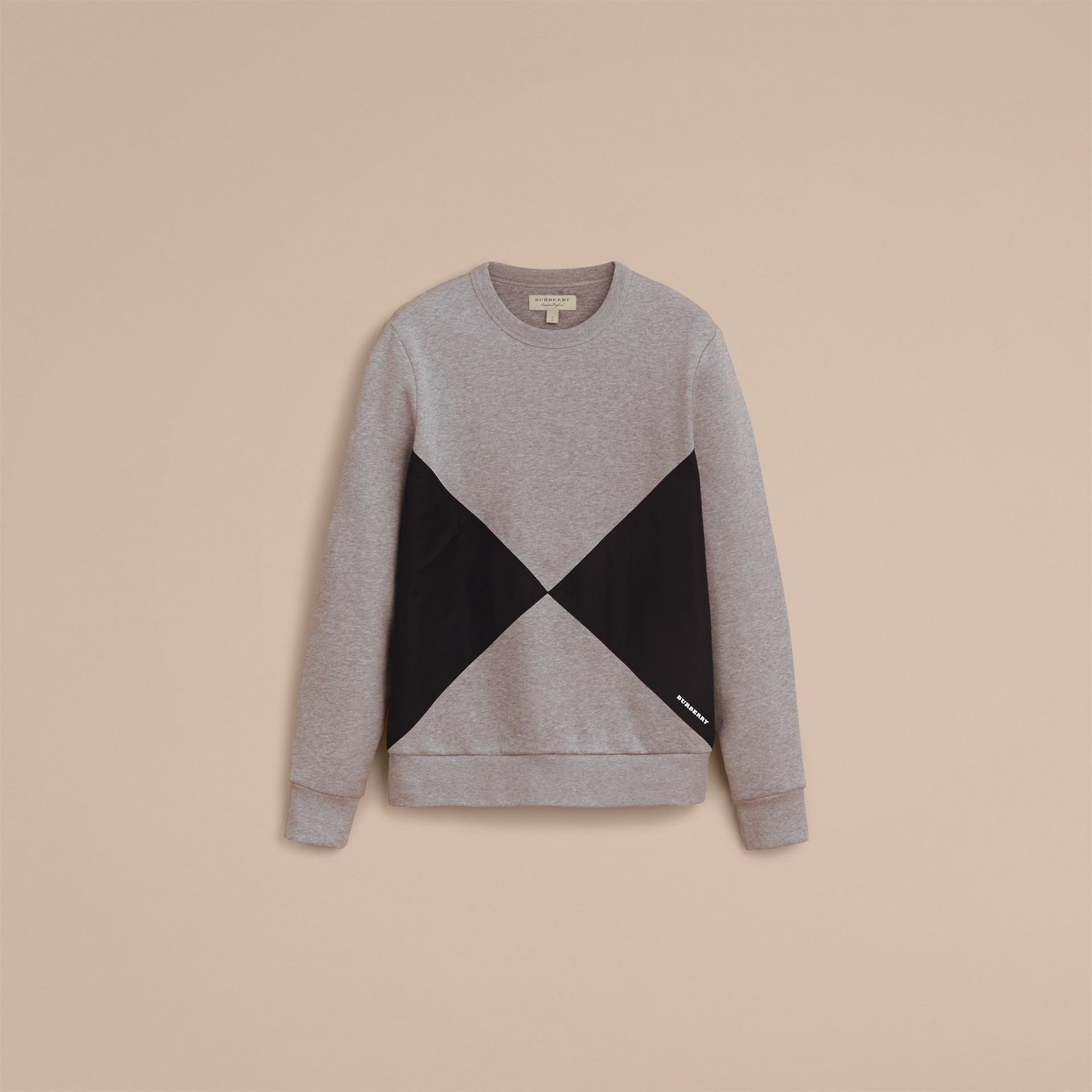 Overlaid Geometric Motif Sweatshirt - gallery image 4