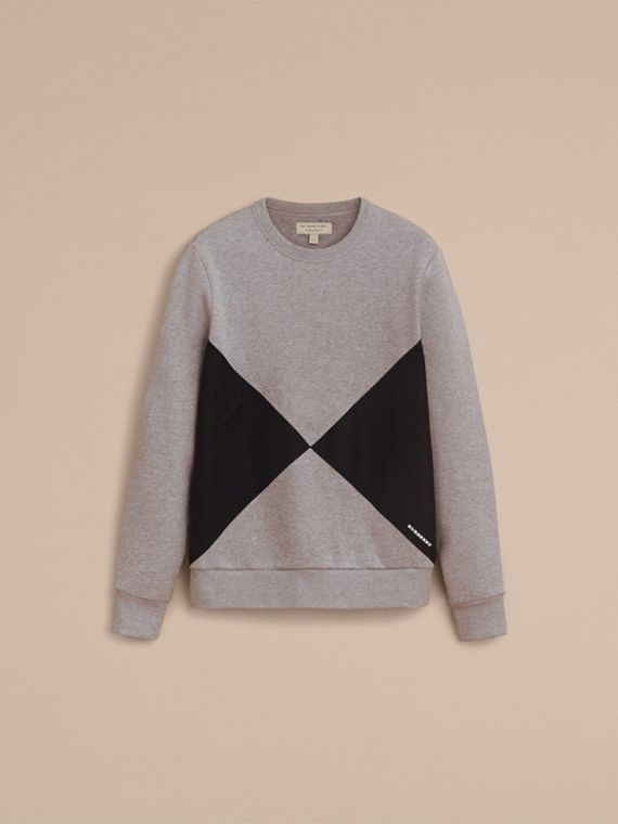 Overlaid Geometric Motif Sweatshirt - cell image 3