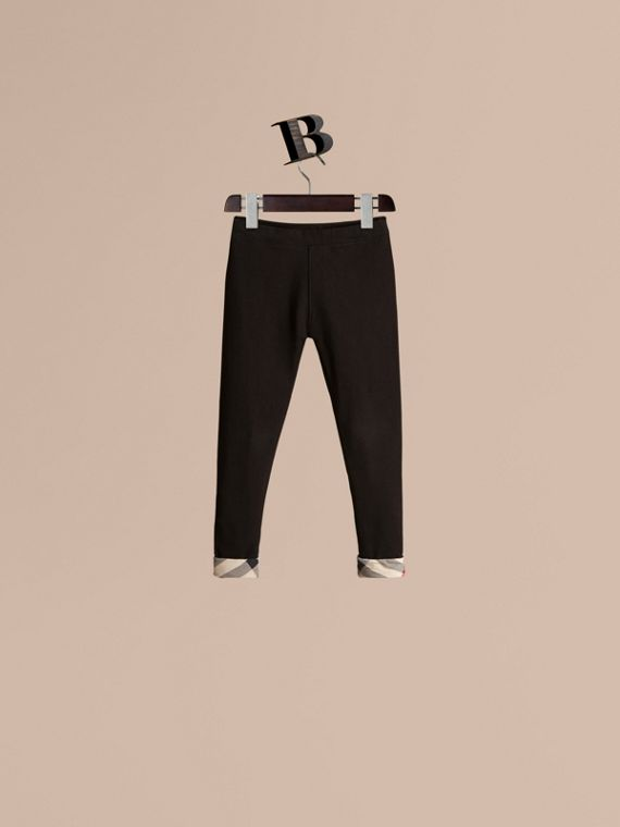 Stretch Cotton Leggings - Girl | Burberry Singapore