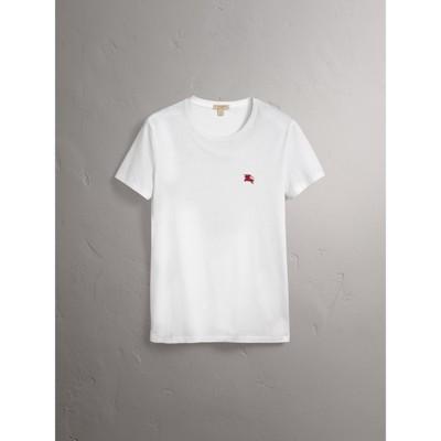 Burberry - T-shirt en jersey de coton - 4