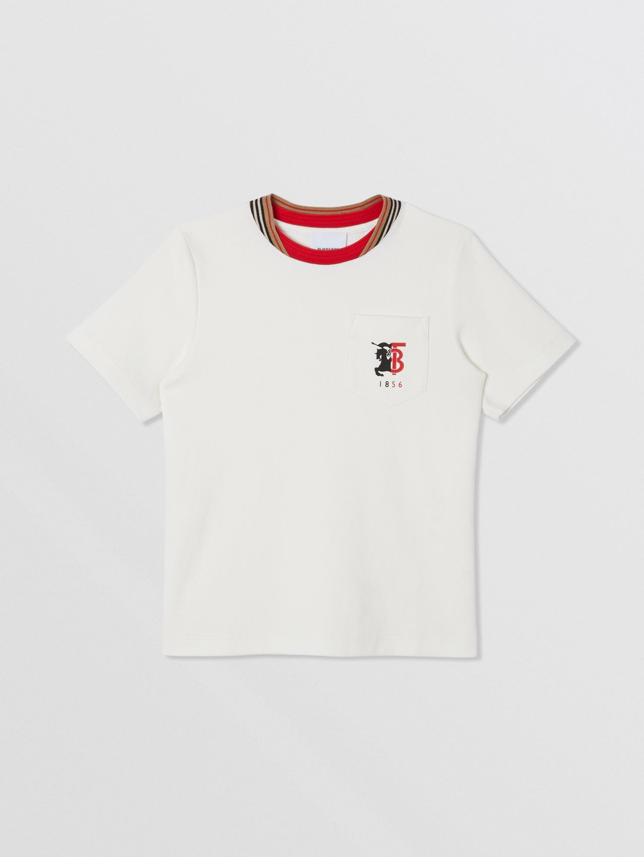 Contrast Logo Graphic Jersey Mesh T-shirt in White