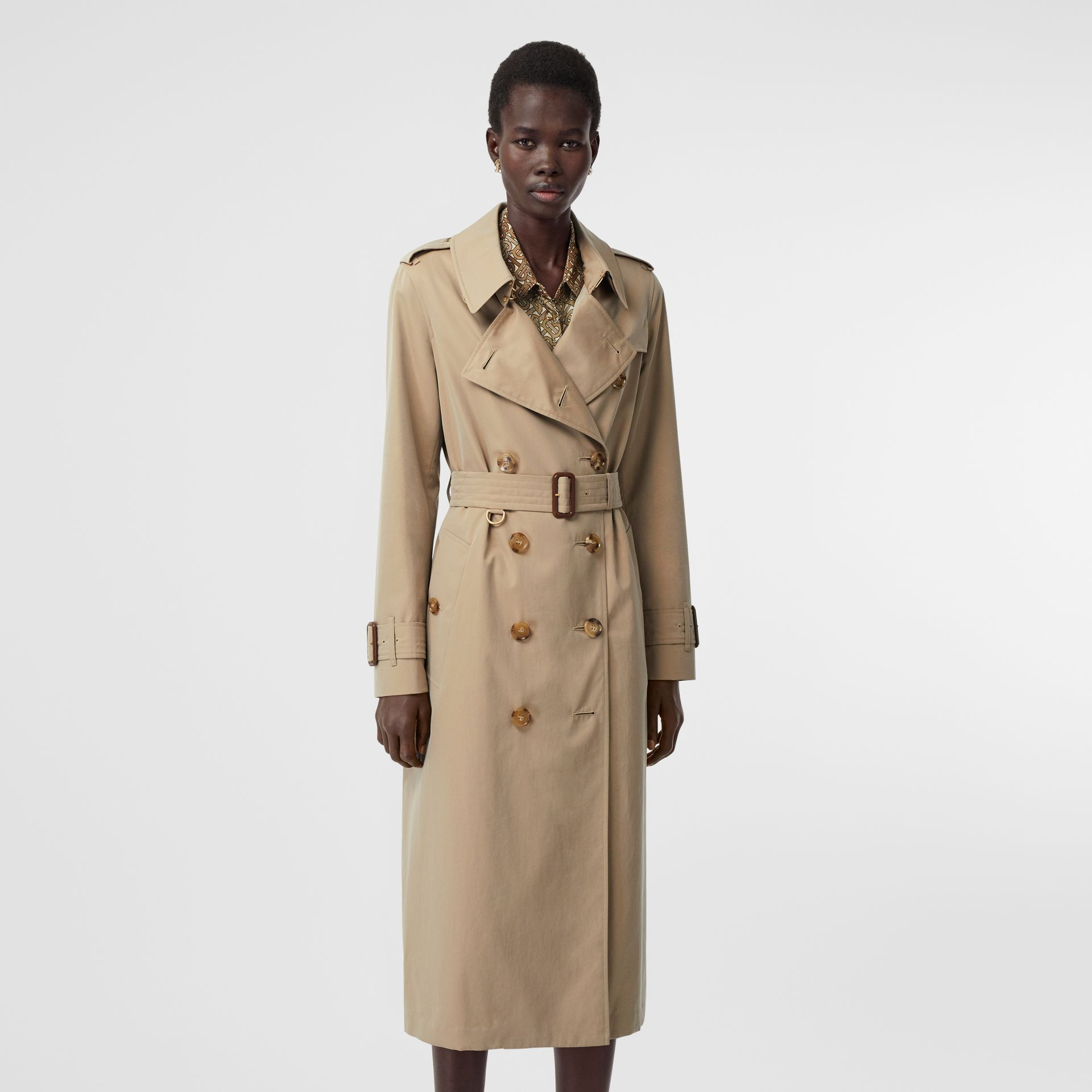 Tropical Gabardine Trench Coat in Honey - Women | Burberry Singapore - gallery image 7