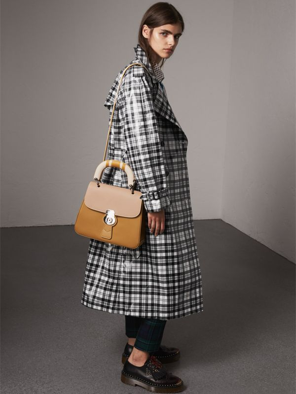 The Medium DK88 Top Handle Bag with Geometric Print in Ochre Yellow/honey - Women | Burberry - cell image 2