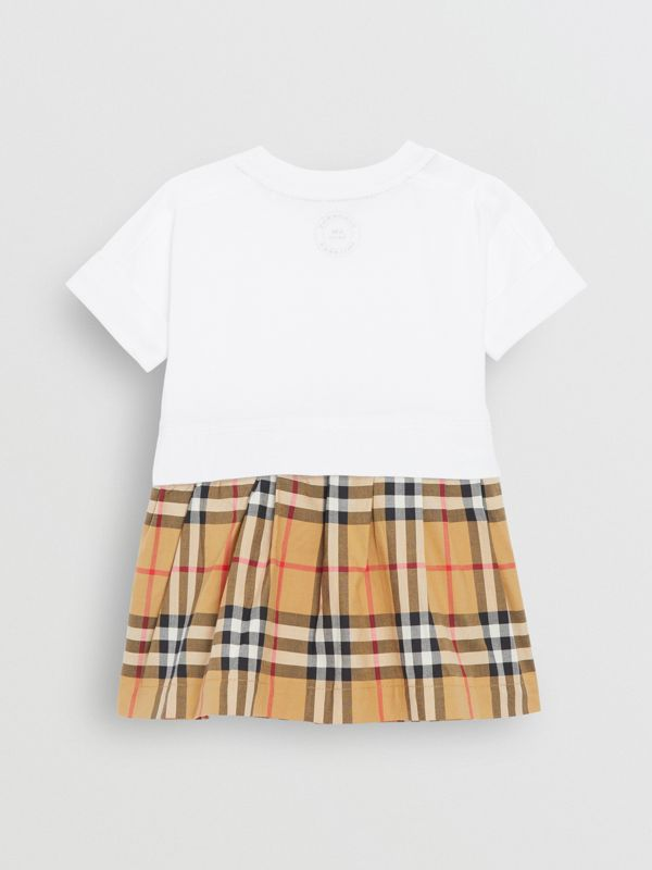 Vintage Check Cotton Dress with Bloomers in White - Children | Burberry Australia - cell image 3