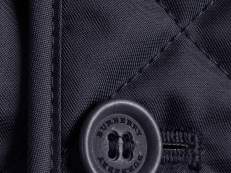 Navy Collarless Diamond Quilted Jacket Navy - cell image 1