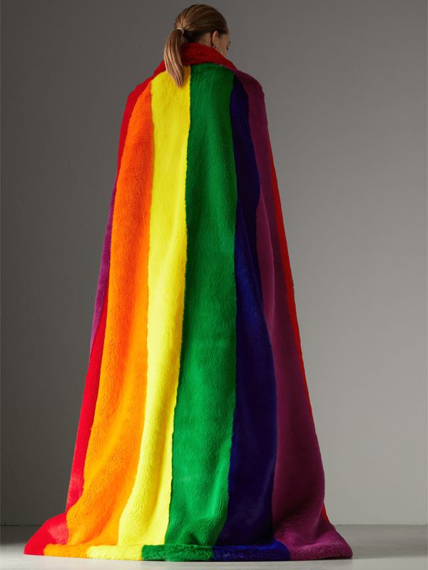 Rainbow Faux Fur Cape - Women | Burberry - cell image 2