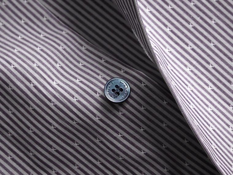 Рубашка из хлопка «добби» в полоску (Античный Темно-синий) - Для мужчин | Burberry - cell image 1