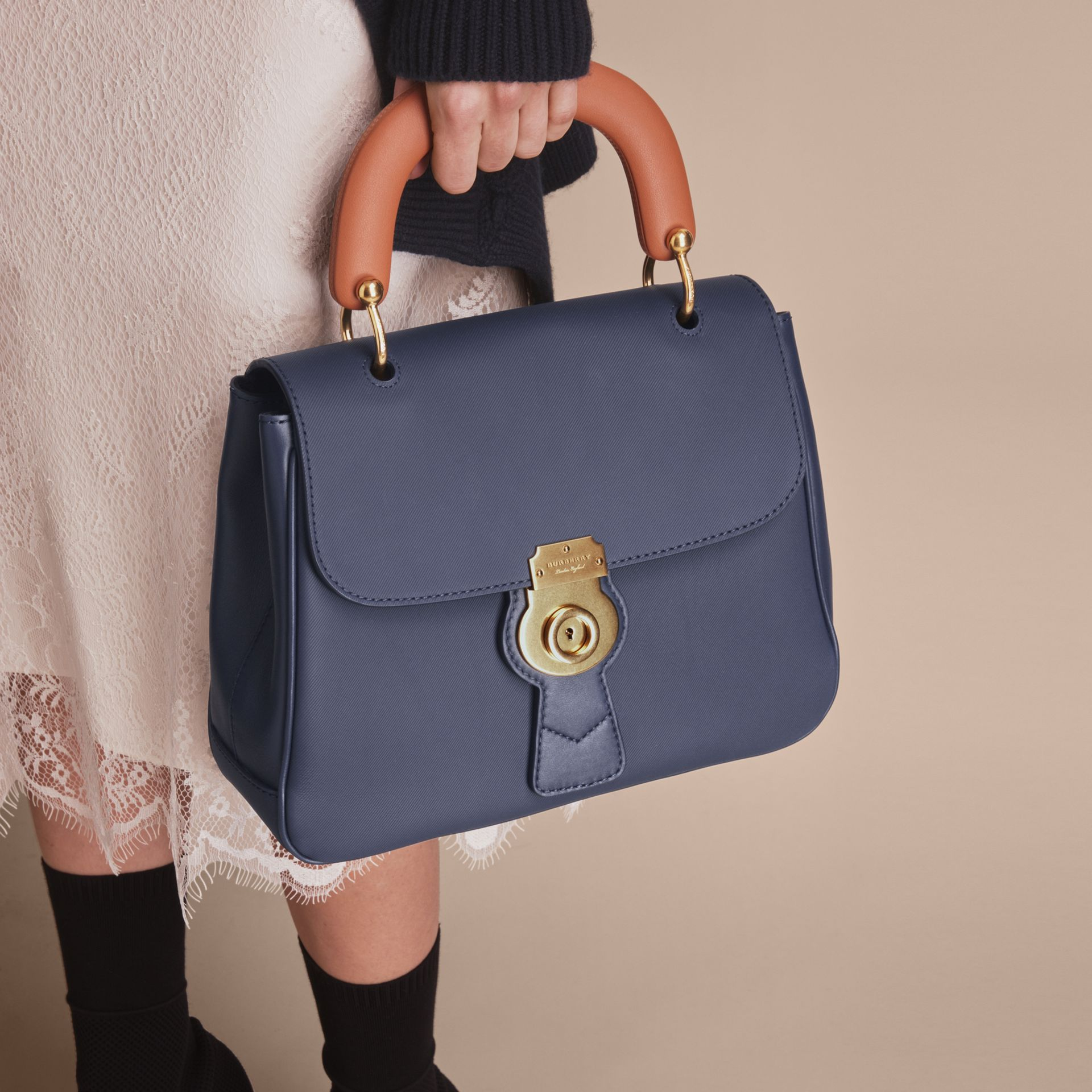 The Medium DK88 Top Handle Bag in Ink Blue - Women | Burberry - gallery image 7