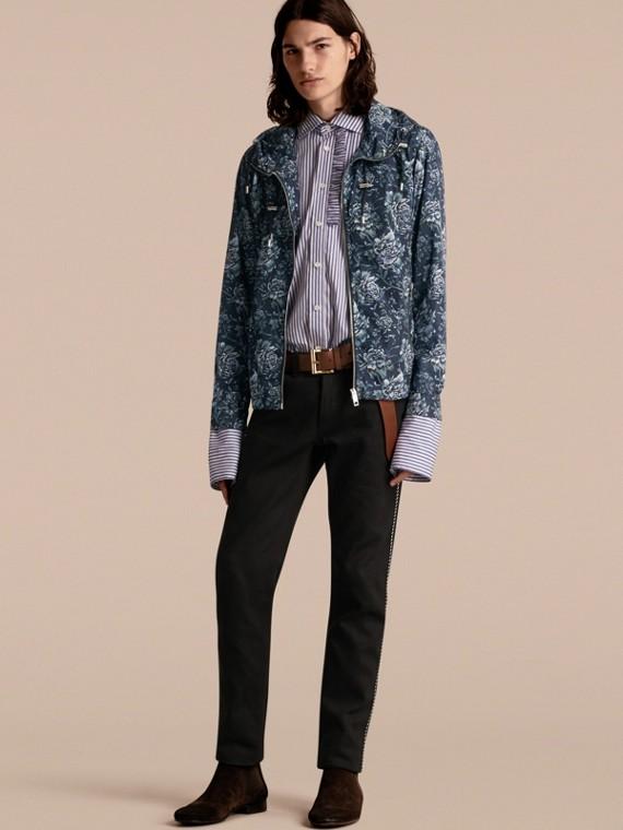 Peony Rose Print Lightweight Jacket