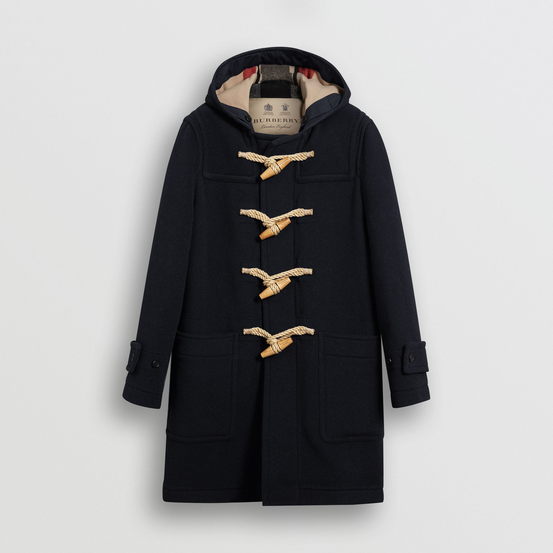 The Greenwich Duffle Coat in Navy - Men | Burberry - gallery image 3