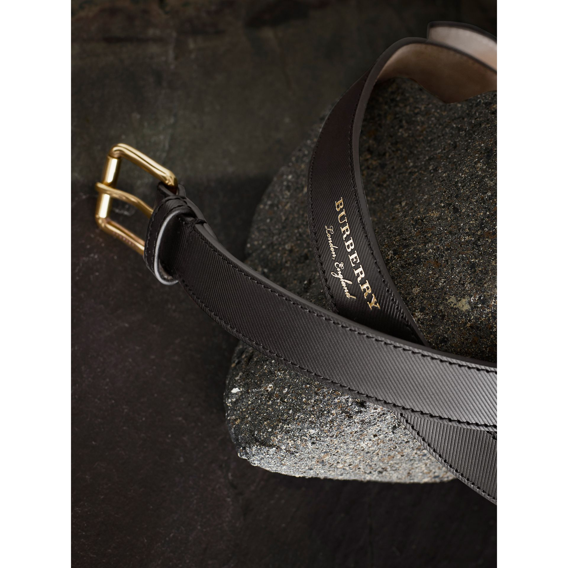 Trench Leather Belt Black - gallery image 1