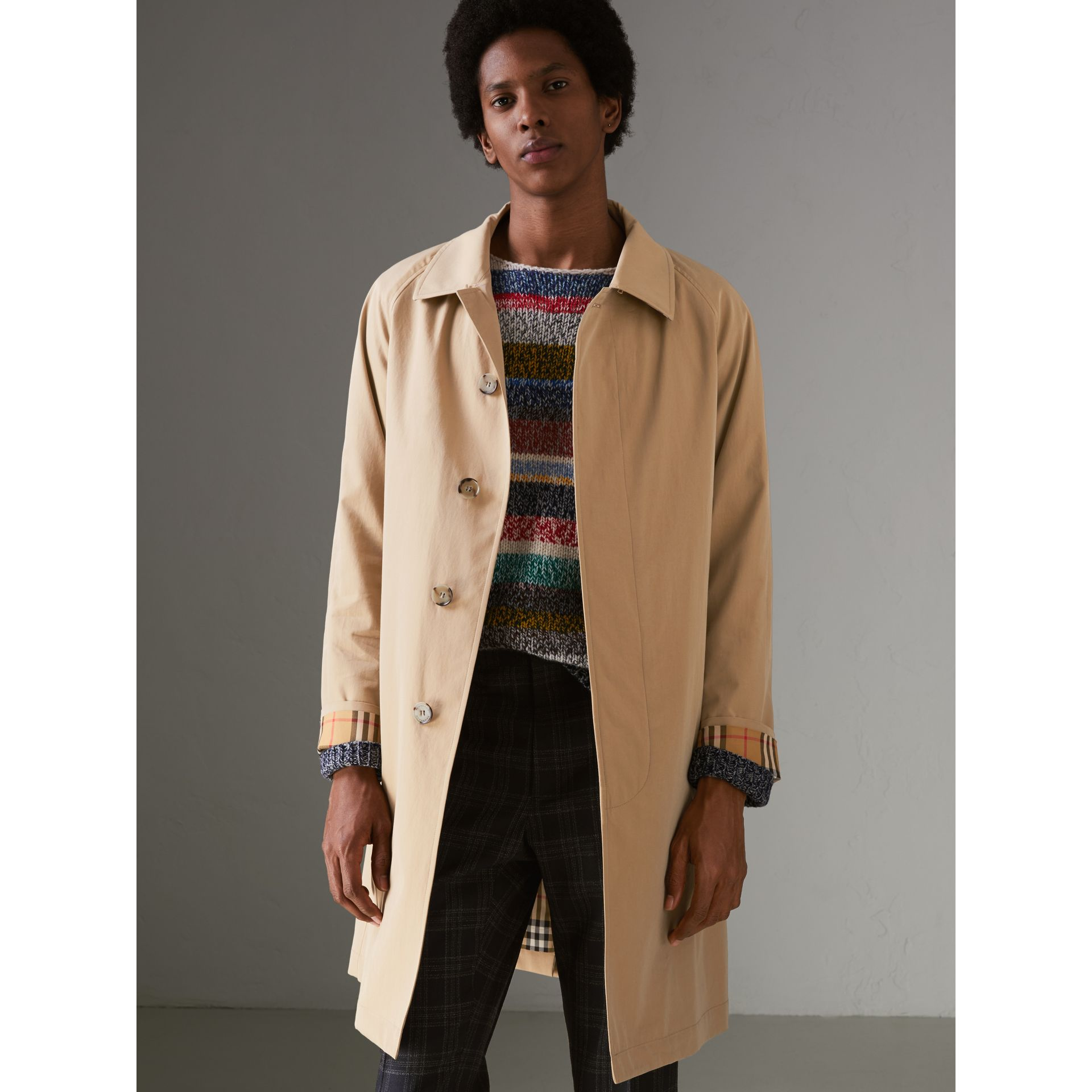 The Camden Car Coat (Honiggelb) - Herren | Burberry - Galerie-Bild 5