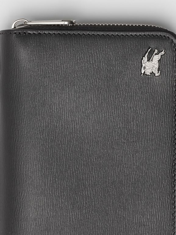 Leather Travel Wallet in Black - Men | Burberry - cell image 1