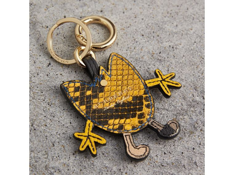 Creature Motif Python Print Key Ring in Bright Toffee - Men | Burberry United States - cell image 2