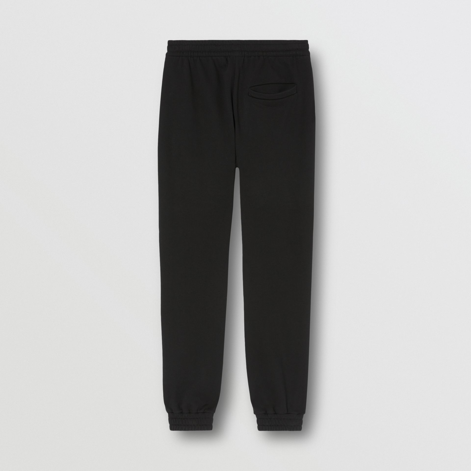 Monogram Motif Cotton Trackpants in Black - Men | Burberry - gallery image 5