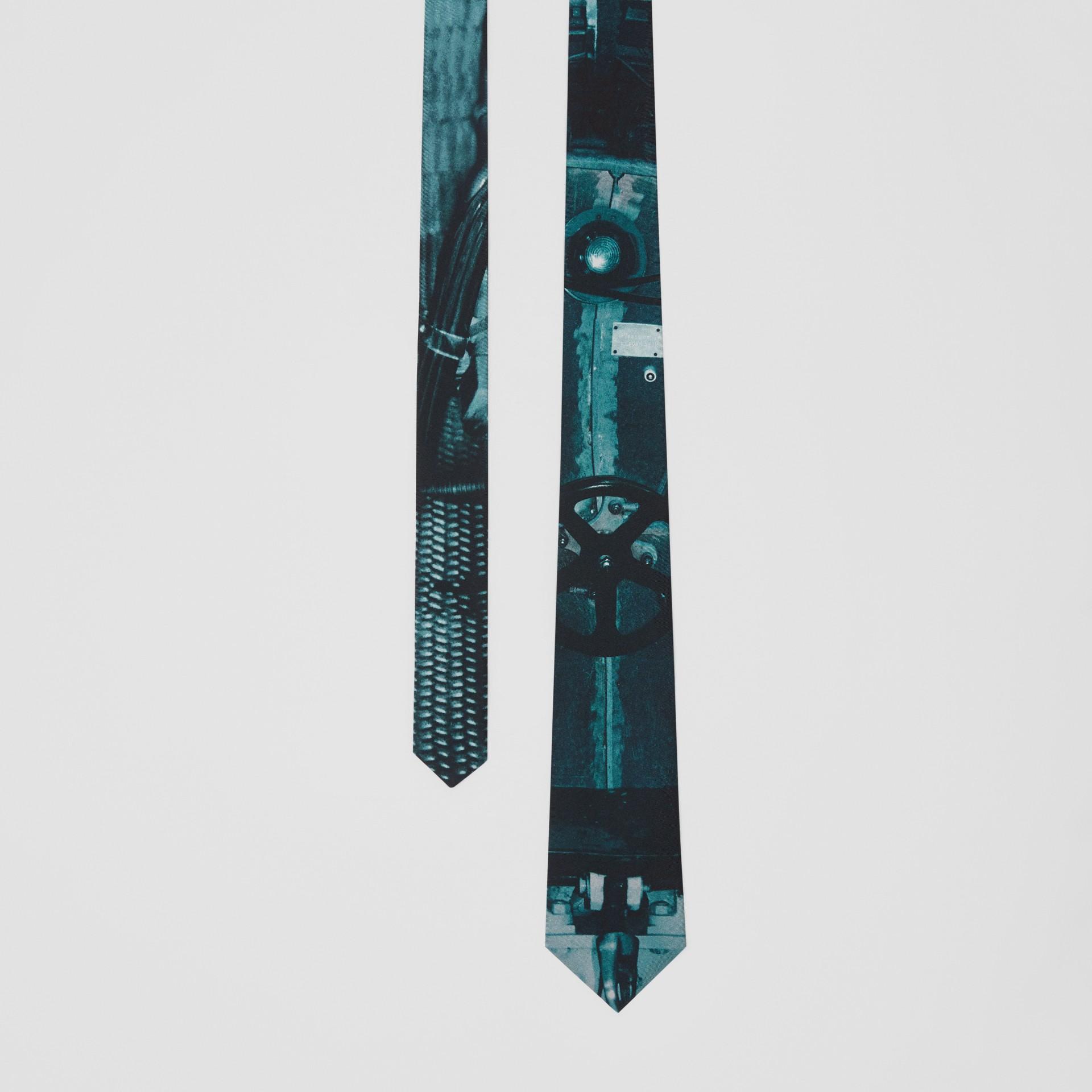 Classic Cut Submarine Print Silk Tie in Deep Teal - Men | Burberry Australia - gallery image 0