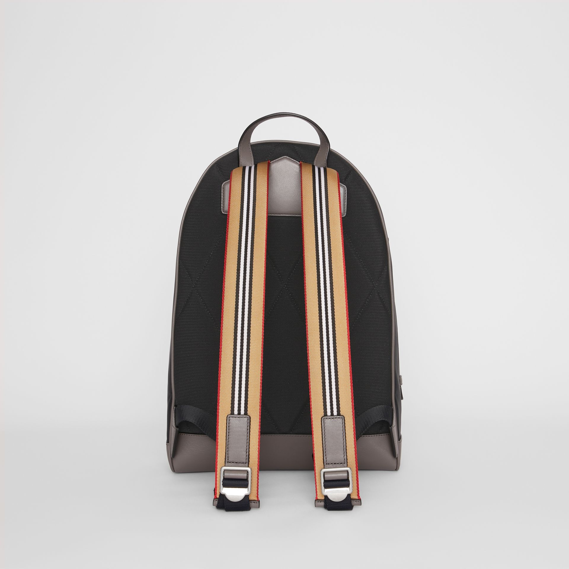Icon Stripe Detail Nylon Backpack in Black - Men | Burberry - gallery image 7