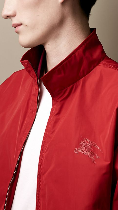 Military red Zip Front Packaway Blouson - Image 3