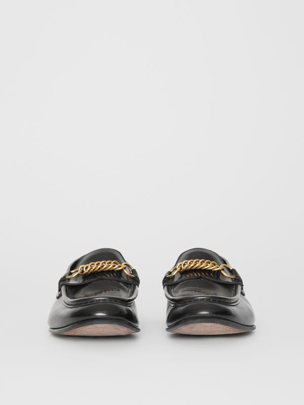 The Leather Link Loafer in Black - Men | Burberry - cell image 3