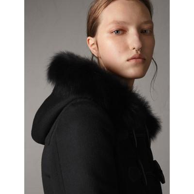 Burberry - Duffle-coat en laine avec bordure en fourrure amovible - 5