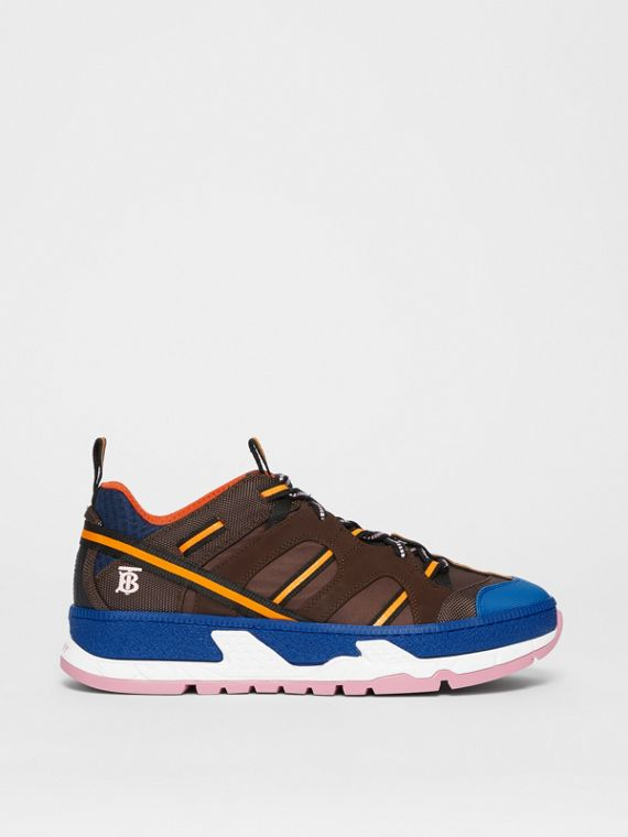 Sneakers Union en nylon et filet (Café/bleu)