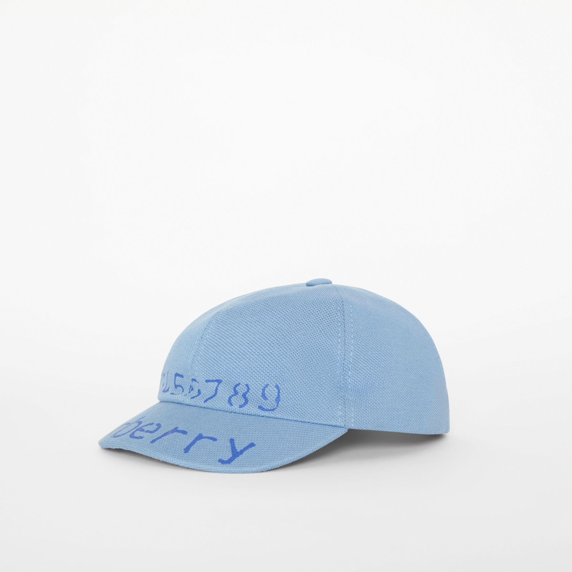 Stencil Logo Print Baseball Cap in Bright Cyan Blue - Children | Burberry - gallery image 3